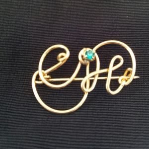 """H"" Artisan Crafted Pin"